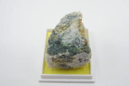 Turquoise sur quartz, Tier des Carrières, Cahay, Vielsalm, Belgique.