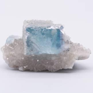 Fluorine bleue et microquartz, Montroc ( ou Mont-Roc), Tarn.