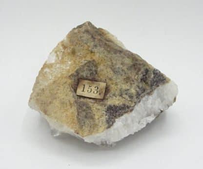 Sidérite sur quartz de Neudorf, Saxe, Allemagne.
