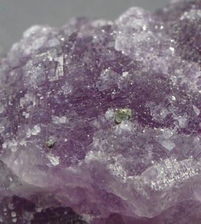 Fluorite violette, Pyrrhotine, Calcite, mine de Fontsante, Sud 3, Var