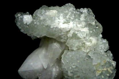 Fluorite verte sur Calcite, mine de Fontsante, Var.