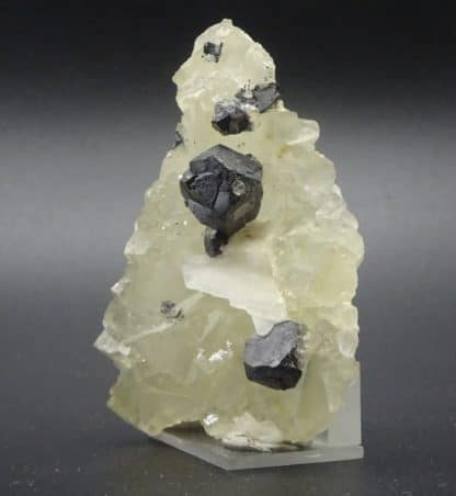 Galène en macle sur fluorite, Fontsante, Var (83).