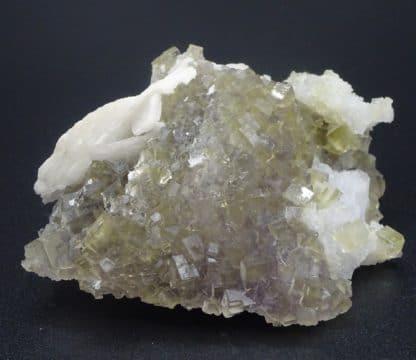 Fluorite verte et Barytine, mine de Fontsante, Var (83).