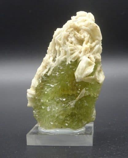 Fluorite verte et Barytine, mine de Fontsante, Tanneron, Var.