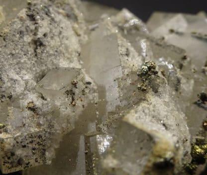 Fluorite, Pyrite, Proustite, filon Saint-Barthélemy, Fontsante, Var.