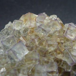 Fluorite cubique transparente, mine de Fontsante, Tanneron, Var.