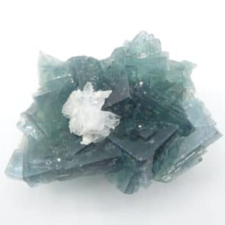 Barytine sur Fluorite verte, filon du Figuier, mine de Fontsante, Var.