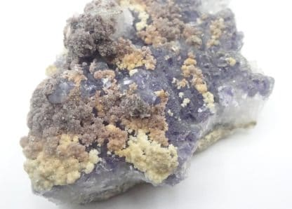 Calcite ferrifère sur Fluorite violacée, Fontsante, Var.