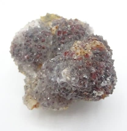 Quartz hématoïde, Fluorite, L'Argentolle, Saône-et-Loire, Morvan.