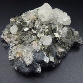 Calcite, Blende, Rhodochrosite, Arsénopyrite, Boulangérite, Trepca, Kosovo.