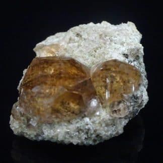 Grenat hessonite, Asbestos, Québec, Canada.