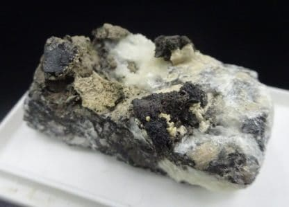 Argent natif sur calcite, Příbram, République Tchèque.