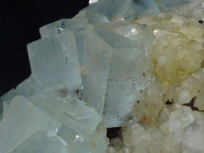 Fluorine bleue, mine du Burc, Au Burg, Tarn.
