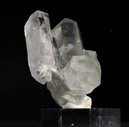 Quartz à inclusions de byssolite, Glacier du Miage, Vallée d'Aoste, Italie.
