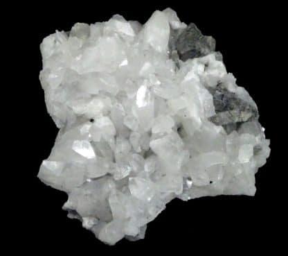 Arsénopyrite sur Quartz, mine d'or de Lopérec, Finistère, Bretagne.
