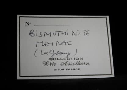 Bismuthinite et Pyrite sur Quartz, Meymac, Corrèze.