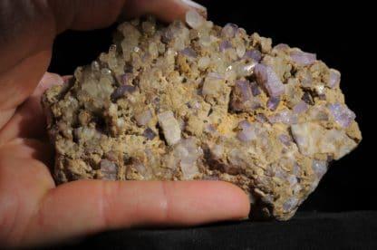 Apatite violette, Ehrenfriedersdorf, Chemnitz, Saxe, Allemagne.