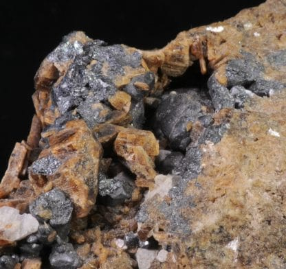Richtérite, Magnétite, Mine Harstigen, Pajsberg, Värmland, Suède.