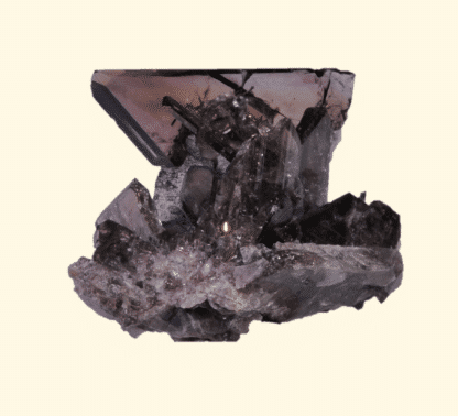 Axinite, Bachat-Bouloud, Chamrousse, Massif de Belledonne, Isère.