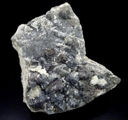 Galène, sphalérite (blende), hydrozincite, Villefranche de Rouergue, Aveyron.