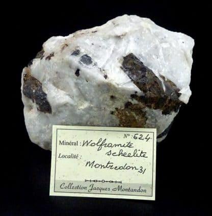 Wolframite, scheelite et quartz, La Frégère, Montredon-Labessonnié, Tarn.