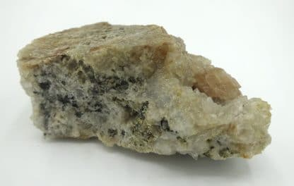 Cérusite sur quartz, Chanrion-en-Poule, Beaujolais, Rhône.