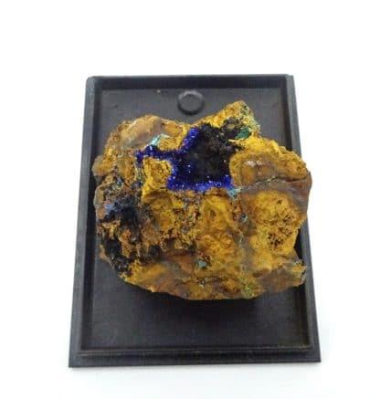 Azurite, mine de Salsigne, Mas Cabardès, Aude.