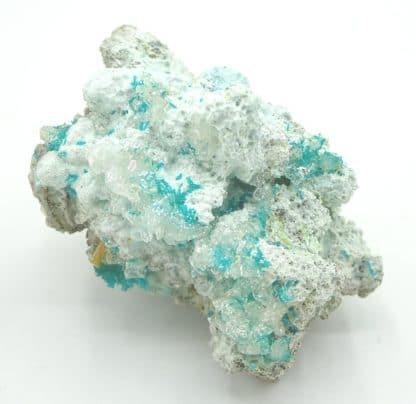 Dioptase et wulfénite, Mammoth-Saint Anthony Mine, Tiger, USA.