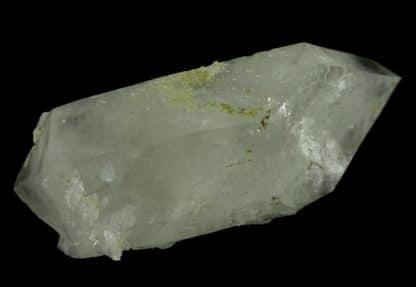 Malachite sur quartz, le Grand Mont, Beaufortain, Savoie.