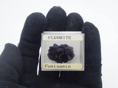 Fluorite violette, Saint-Barthélemy, mine de Fontsante, Var.