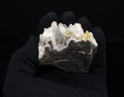 Dolomite sur quartz (xl), Estevelle, Pas-de-Calais, Hauts-de-France.