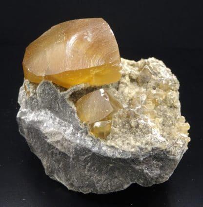 Calcite, carrière de Glageon, Avesnois, Nord, Hauts-de-France.