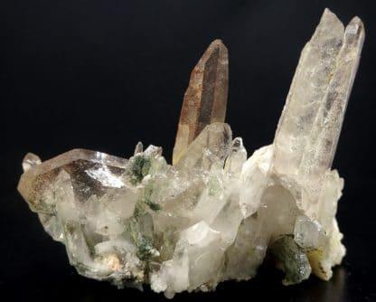 Quartz et chlorite, carrière de Bierghes, Brabant-Wallon, Belgique.