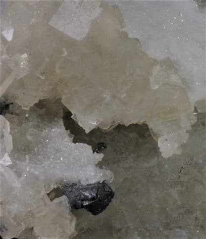 Galène, Fluorine jaune, Barytine, Filon blanc, Mine de Fontsante, l'Esterel, Var.