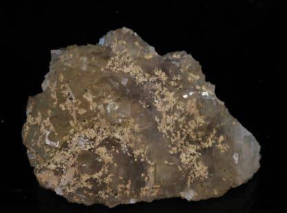 Fluorine jaune et Calcite ferrifère, Mine de Fontsante, Les-Adrets-de-l'Esterel, Var.