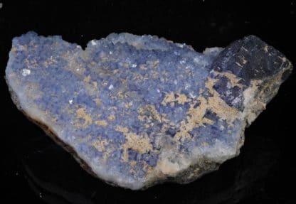 Fluorine bleue encre, Filon Sud 3, Mine de Fontsante, Les-Adrets-de-l'Esterel, Var.