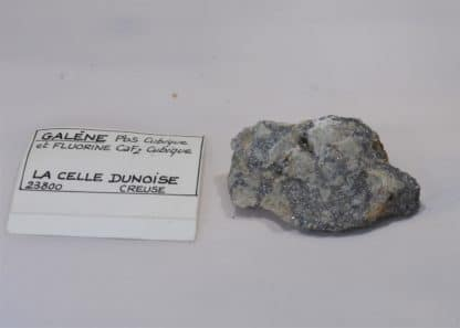 Galène et Fluorine, La Celle-Dunoise, Creuse, Limousin.