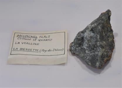 Mispickel (Arsénopyrite) et Quartz, La Viallole, La Bessette, Puy-de-Dôme, Auvergne.