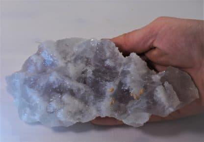 Calcite sur fluorine, Mine de Fontsante, Esterel, Var, Provence.