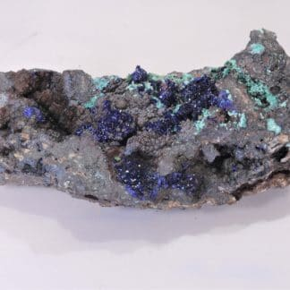 Azurite et Malachite, Mine du Moulinal, Tarn, France.