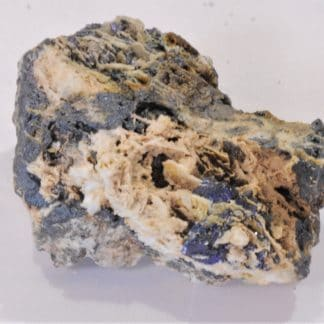 Azurite et Cuprite, Mine du Moulinal, Tarn, France.
