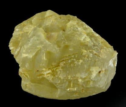 Calcite jaune, carrière de Leffe, Dinant, Belgique.