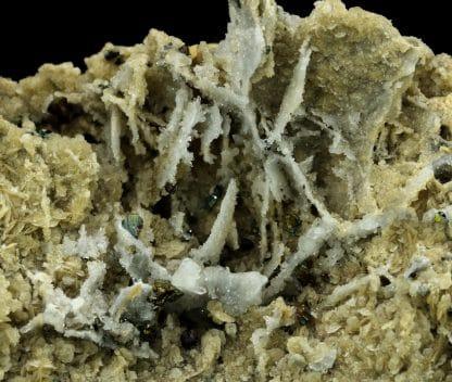 Chalcopyrite et quartz sur sidérite, Allemagne.
