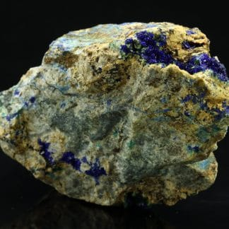 Azurite, malachite, Mine de Bou-Skour, Zagora, Maroc.