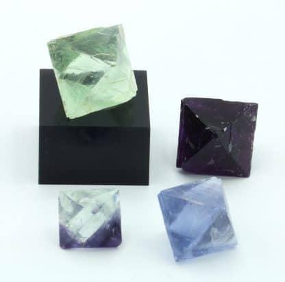 Lot de 4 cristaux de fluorine de Boltry à Seilles en Belgique.