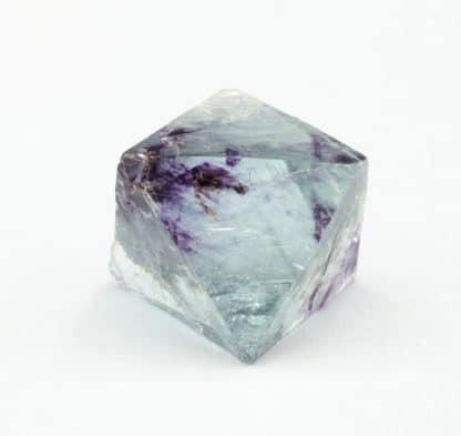 Fluorine bleue et violet, carrière de Boltry, Seilles, Belgique.