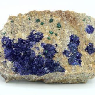 Azurite et malachite, mine de la Garonne au Pradet dans le Var.