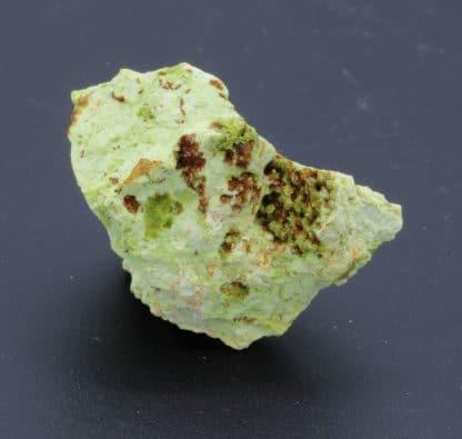 Chenevixite en micro cristaux, en provenance d'Algérie, lot de 3.