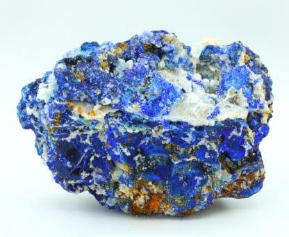 Azurite, fluorine, malachite, mine de Montroc (Mont-Roc), Tarn.