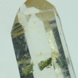 Chalcopyrite dans du Quartz, Mine à Giraud, La Gardette, Oisans, Isère.